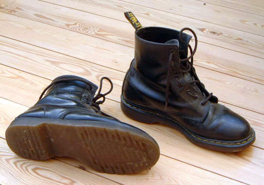 Image of a pair of Dr Marten shoes.